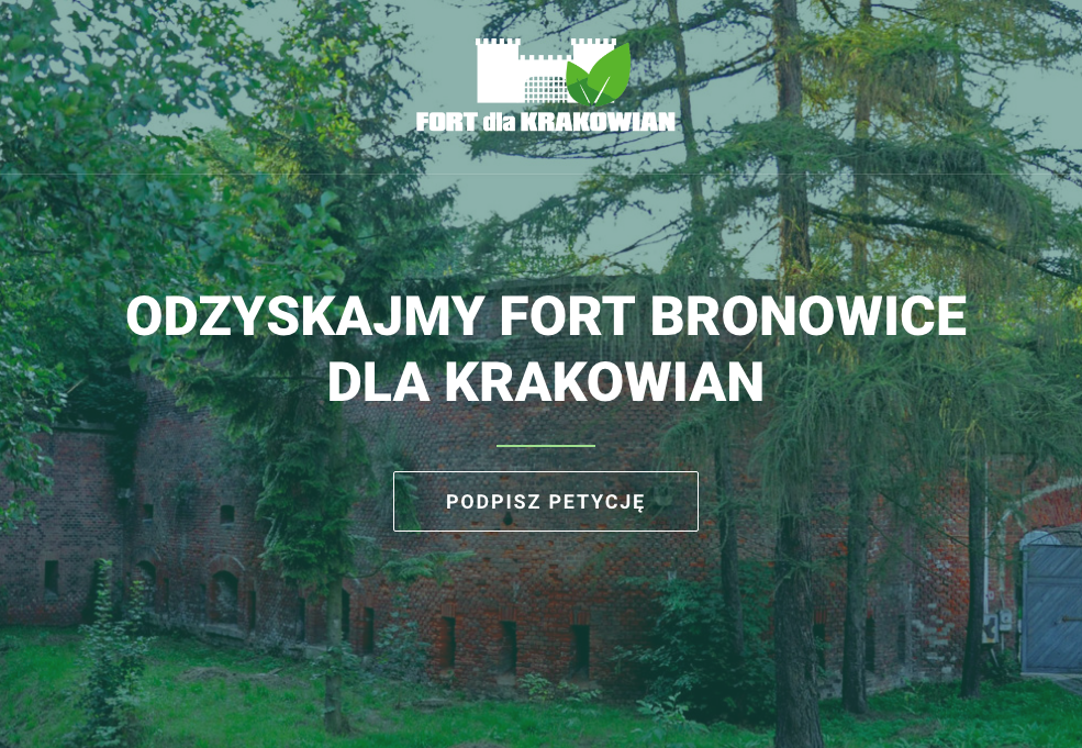 Podpisz petycję na www.fortdlakrakowian.pl